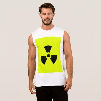 mens t shirt black and yellow symbol