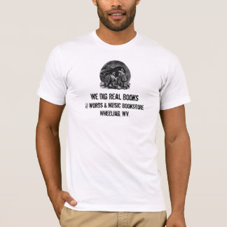 men's t-shirt dig real books