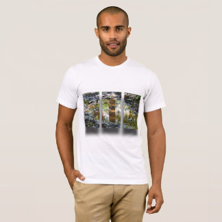 Men's T shirt. White with design T-Shirt