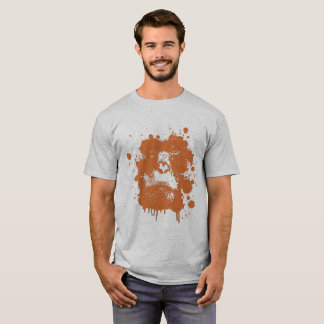 Men's T-shirt with a monkey theme in orange 2