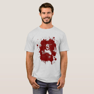Men's T-shirt with a monkey theme in red