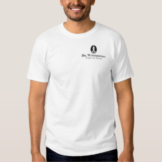 """men's t-shirt with """"Dr. Witherspoon"""" logo"""