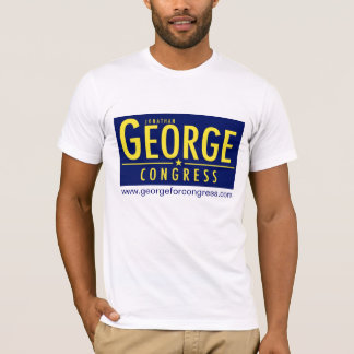 Men's T-Shirt with George Logo and Website