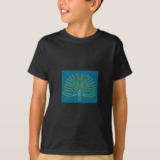 Men's T-Shirt with Peacock Art