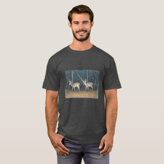 Men's T-Shirt with Whitetail Deer on it.