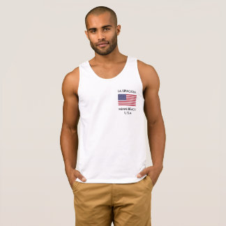 Men's Tank Top T-Shirt with American Flag