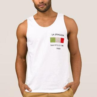 Men's Tank Top T-Shirt With Italian Flag
