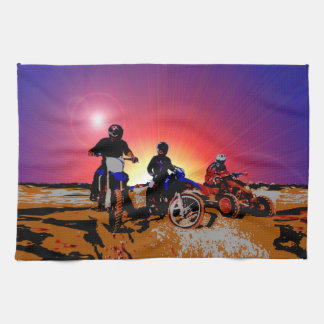 Men's Teen Boy's Motocross Motorbike Riding Kitchen Towel
