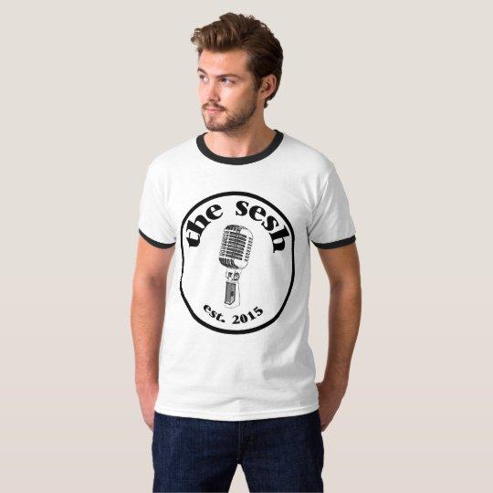 """Men's """"the sesh"""" Crest Ringer T-Shirt"""
