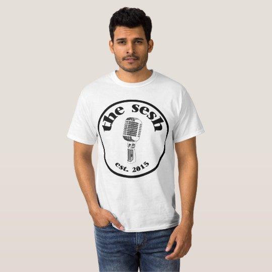 """Men's """"the sesh"""" Crest White T-Shirt"""