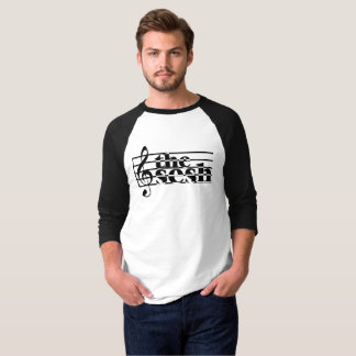 """Men's """"the sesh"""" Musical Scale 3/4-Sleeve T-Shirt"""