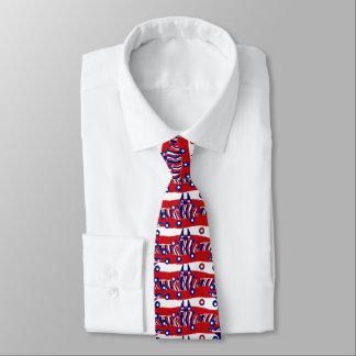 Men's tie red white blue custom unique