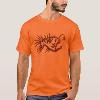 Mens tribal anglerfish shirt design