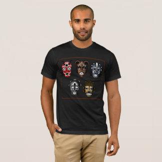 Men's Tribal Masks Black T-Shirt
