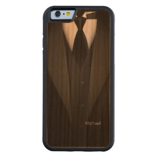 Mens' Tuxedo Suit Carved Cherry iPhone 6 Bumper Case