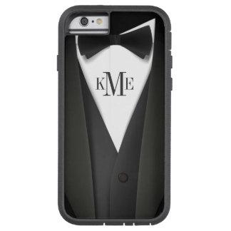 Mens Tuxedo Suit Pattern - Unique Monogram Tough Xtreme iPhone 6 Case