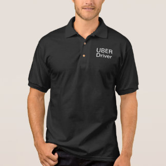 Men's UBER DRIVER S to 2X Black Short Sleeve Polo Shirt