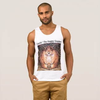 "Men's Ultra Cotton Tank Top ""Gordo"" Happy Gopher"