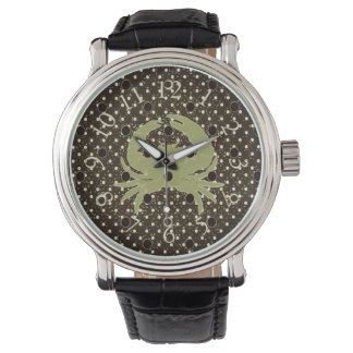 Men's & Unisex_Jimmy Crab*_Series_Pale Lime_Brown Watch