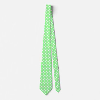 Men's White and Mint Green Tie