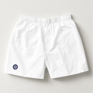 Mens White Boxers Shorts