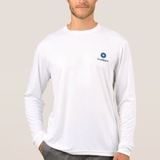 Men's White Dry Fit Long Sleeve w/ Veritcal Logo T-Shirt