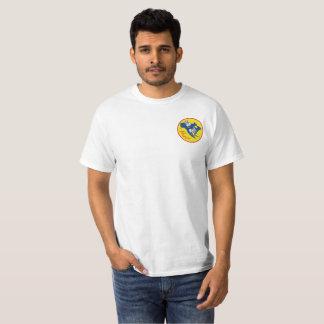 Mens White Pocket Logo SCNA T-Shirt