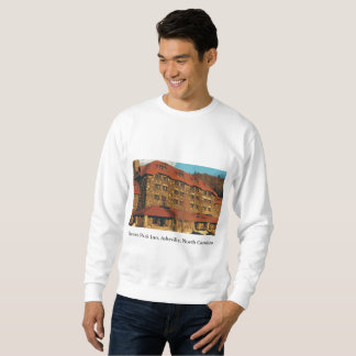 Men's White Sweatshirt with Grove Park Inn Photo