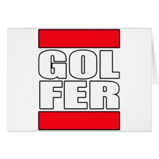 mens womens golf golfer golfing funny golf t shirt greeting card