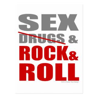 Mens Womens SEXDRUGS & ROCK ROLL Postcard