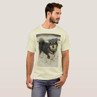 Men's XL Tee, Beige with Malamute picture T-Shirt