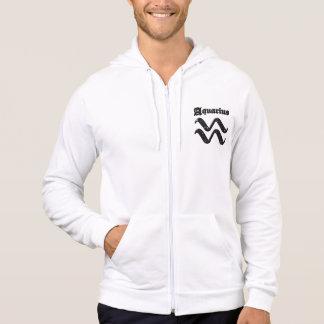 Men's Zip Aquarius Hoodie - Design 1