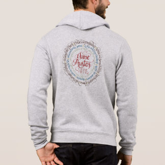 Men's Zip Hoodie Jane Austen Period Dramas