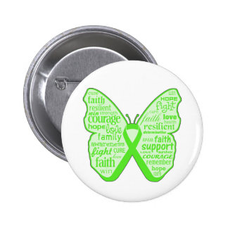 Mental Health Awareness Butterfly Ribbon 2 Inch Round Button