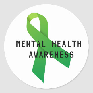 Mental Health Awareness - Let's fight the stigma Classic Round Sticker