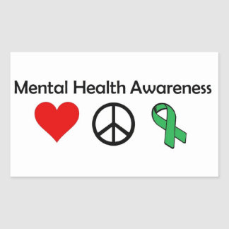 Mental Health Awareness - Love, Peace, Awareness Sticker