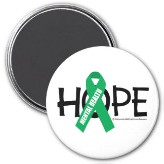 Mental Health Hope 3 Inch Round Magnet