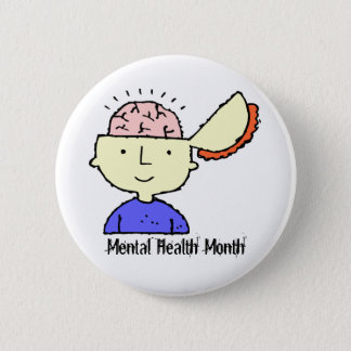 Mental Health Month 2 Inch Round Button