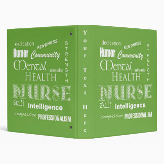 Mental Health Nurse-Attributes/Lime-Green Binder