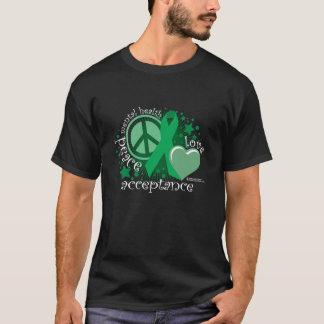 Mental Health Peace Love Acceptance T-Shirt