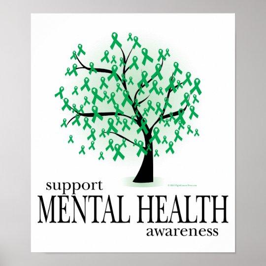 Mental Health Tree Poster Zazzle Ca