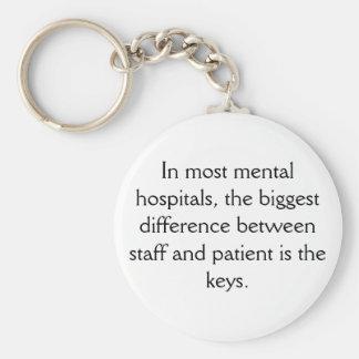 Mental Hospital Keychain