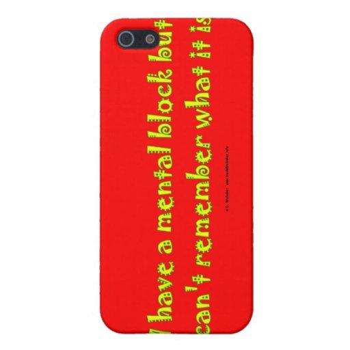 mentalBlock iPhone 5 Case