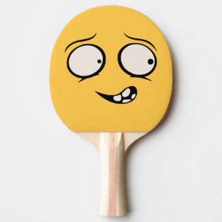 Mentally Deranged Funny Face Ping Pong Paddle