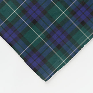 Menteith Scotland District Tartan Fleece Blanket