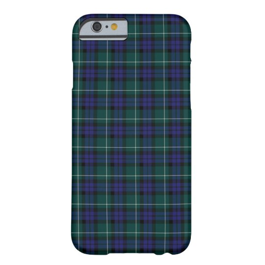 Menteith Scotland District Tartan Pattern Barely There iPhone 6 Case