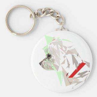 Menthéos Basic Round Button Keychain