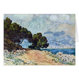 Menton Seen from Cap Martin by Claude Monet Card