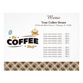 Coffee Shop Promotional Flyers, Coffee Shop Promotional ...