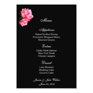 Menu Card Pink Rose